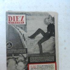 Coleccionismo de Revista Diez Minutos: REVISTA DIEZ MINUTOS Nº 85 ABRIL 1953. EN ESTE NÚMERO: CHARLES BOYER. EL MONSTRUO DE LONDRES.... Lote 172345305
