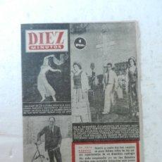 Coleccionismo de Revista Diez Minutos: REVISTA DIEZ MINUTOS Nº 89 MAYO 1953. EN ESTE NÚMERO: RITA HAYWORTH ES SALOMÉ, CONGRESO EUCARÍSTICO.. Lote 172362474