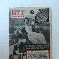 Coleccionismo de Revista Diez Minutos: REVISTA DIEZ MINUTOS Nº 90 MAYO 1953. EN ESTE NÚMERO: GINA LOLLOBRIGIDA, SOLDADOS CANJEADOS..... Lote 172362608