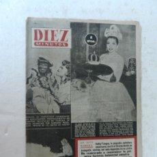 Coleccionismo de Revista Diez Minutos: REVISTA DIEZ MINUTOS Nº 91 MAYO 1953. EN ESTE NÚMERO: GONZO, EL SIMPÁTICO CHIMPÁNCE DE HOLLYWOOD..... Lote 172362910