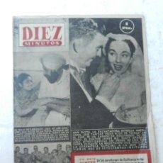Coleccionismo de Revista Diez Minutos: REVISTA DIEZ MINUTOS Nº 100 JULIO 1953. EN ESTE NÚMERO: PROCLAMACIÓN DE LA REPÚBLICA DE EGIPTO.... Lote 172364518