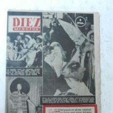 Coleccionismo de Revista Diez Minutos: REVISTA DIEZ MINUTOS Nº 101 AGOSTO 1953. EN ESTE NÚMERO: CONJUNTO DE PLAYA EN LA ALTA COSTURA.... Lote 172364633