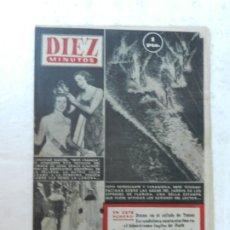 Coleccionismo de Revista Diez Minutos: REVISTA DIEZ MINUTOS Nº 102 AGOSTO 1953. EN ESTE NÚMERO: CHRISTINE MARTEL MISS FRANCIA..... Lote 172364745
