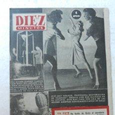 Coleccionismo de Revista Diez Minutos: REVISTA DIEZ MINUTOS Nº 103 AGOSTO 1953. EN ESTE NÚMERO: MISS RAY WOLKER, PEINADOS DE MIMBRE..... Lote 172364849
