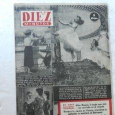 Coleccionismo de Revista Diez Minutos: REVISTA DIEZ MINUTOS Nº 105 AGOSTO 1953. EN ESTE NÚMERO: UNA MUJER VIVE CON UNA BALA EN EL CORAZÓN... Lote 172364969