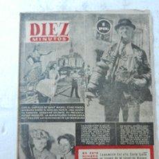 Coleccionismo de Revista Diez Minutos: REVISTA DIEZ MINUTOS Nº 1069 SEPTIEMBRE 1953. EN ESTE NÚMERO: CASTILLO DE SANT MICHEL.... Lote 172365140