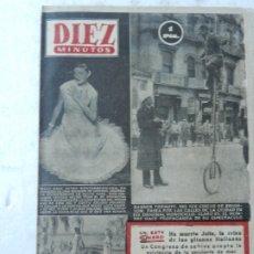 Coleccionismo de Revista Diez Minutos: REVISTA DIEZ MINUTOS Nº 107 SEPTIEMBRE 1953. EN ESTE NÚMERO: PLAYAS DE FLORIDA.... Lote 172365344