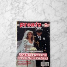 Coleccionismo de Revista Diez Minutos: PRONTO - 1986 - SALVADOR DALI, RAMON ARCUSA, ROCIO JURADO, VICTORIA VERA, TONI CANTO, HOMBRES G. Lote 173402965