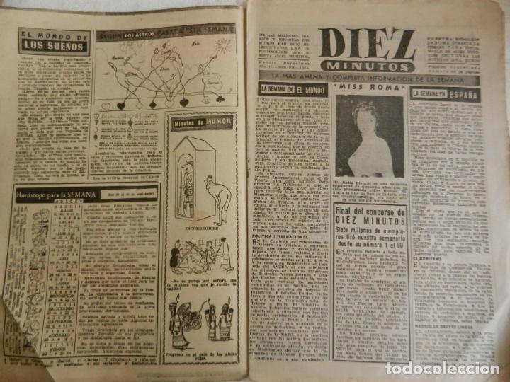 Coleccionismo de Revista Diez Minutos: REVISTA DIEZ MINUTOS Nº 108 SEPTIEMBRE 1953. EN ESTE NÚMERO: ZSA-ZSA GABOR Y DANIE GELIN..... - Foto 2 - 173508924