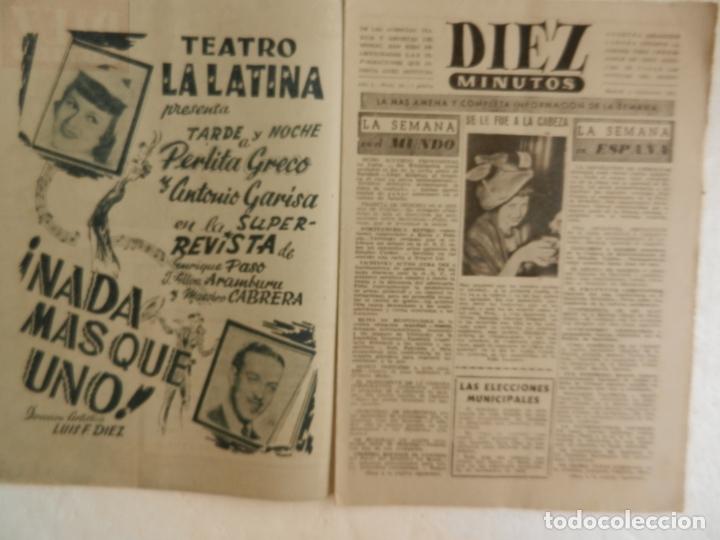 Coleccionismo de Revista Diez Minutos: REVISTA DIEZ MINUTOS Nº 14 DICIEMBRE 1951. EN ESTE NÚMERO: EL MISTERIO DE PONTECORVO... - Foto 2 - 173529240