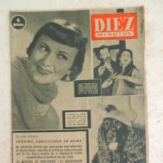 Coleccionismo de Revista Diez Minutos: REVISTA DIEZ MINUTOS Nº 14 DICIEMBRE 1951. EN ESTE NÚMERO: EL MISTERIO DE PONTECORVO.... Lote 173529240