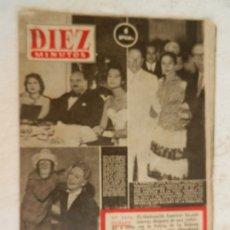 Coleccionismo de Revista Diez Minutos: REVISTA DIEZ MINUTOS Nº 82 MARZO 1953. EN ESTE NÚMERO: LOLA FLORES SIGUE COSECHANDO TRIUNFOS.... Lote 173529799
