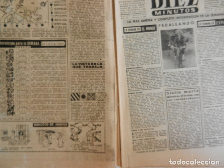 Coleccionismo de Revista Diez Minutos: REVISTA DIEZ MINUTOS Nº 262 SEPTIEMBRE 1956. EN ESTE NÚMERO: UNA SECUESTRADORA EN EL CAIRO VENDIA .. - Foto 2 - 173530044