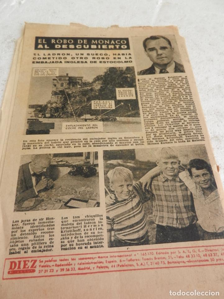 Coleccionismo de Revista Diez Minutos: REVISTA DIEZ MINUTOS Nº 262 SEPTIEMBRE 1956. EN ESTE NÚMERO: UNA SECUESTRADORA EN EL CAIRO VENDIA .. - Foto 5 - 173530044
