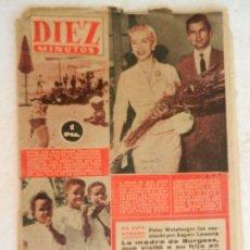 Coleccionismo de Revista Diez Minutos: REVISTA DIEZ MINUTOS Nº 262 SEPTIEMBRE 1956. EN ESTE NÚMERO: UNA SECUESTRADORA EN EL CAIRO VENDIA ... Lote 173530044