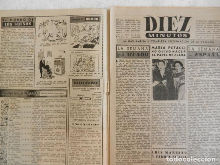 Coleccionismo de Revista Diez Minutos: REVISTA DIEZ MINUTOS Nº 35 ABRIL 1952. EN ESTE NÚMERO: MODELO DE SOMBRERO LANZADO EN PARIS... - Foto 2 - 173530274