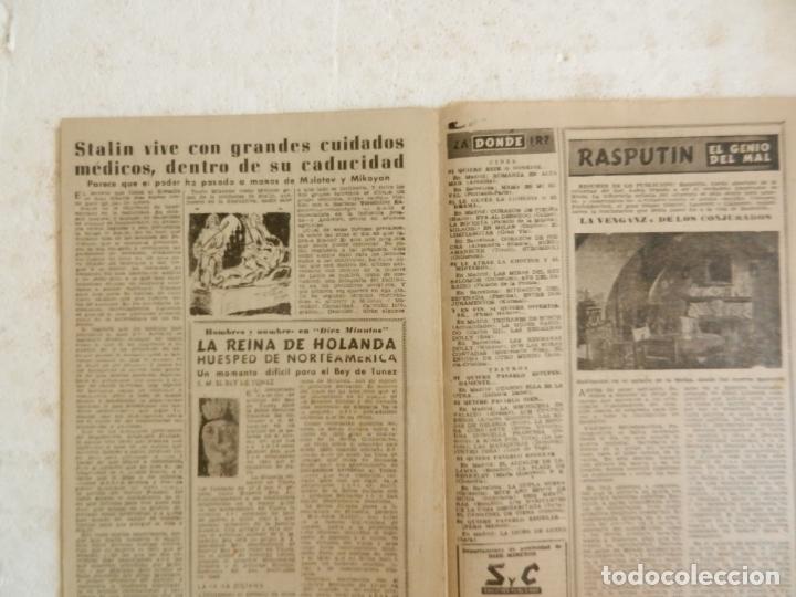 Coleccionismo de Revista Diez Minutos: REVISTA DIEZ MINUTOS Nº 35 ABRIL 1952. EN ESTE NÚMERO: MODELO DE SOMBRERO LANZADO EN PARIS... - Foto 3 - 173530274