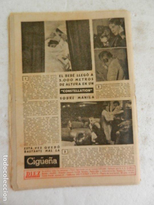 Coleccionismo de Revista Diez Minutos: REVISTA DIEZ MINUTOS Nº 35 ABRIL 1952. EN ESTE NÚMERO: MODELO DE SOMBRERO LANZADO EN PARIS... - Foto 4 - 173530274