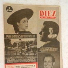 Coleccionismo de Revista Diez Minutos: REVISTA DIEZ MINUTOS Nº 35 ABRIL 1952. EN ESTE NÚMERO: MODELO DE SOMBRERO LANZADO EN PARIS.... Lote 173530274