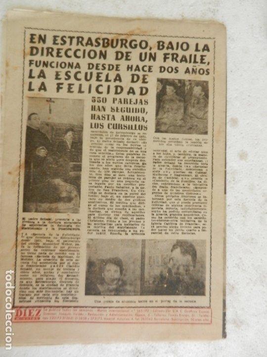 Coleccionismo de Revista Diez Minutos: REVISTA DIEZ MINUTOS Nº 89 MAYO 1953. EN ESTE NÚMERO: CONGRESO EUCARÍSTICO DE SYDNEY..... - Foto 4 - 173530679