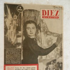 Coleccionismo de Revista Diez Minutos: REVISTA DIEZ MINUTOS Nº 32 ABRIL 1952. EN ESTE NÚMERO: ANTES DE DOS SIGLOS SERÁN POSIBLES IR A MARTE. Lote 173531020
