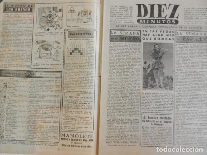 Coleccionismo de Revista Diez Minutos: REVISTA DIEZ MINUTOS Nº 36 MAYO 1952. EN ESTE NÚMERO: LA FABULOSA HERENCIA DE FRANCISCO MARTÍNEZ... - Foto 2 - 173531085