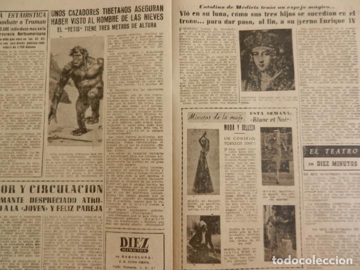 Coleccionismo de Revista Diez Minutos: REVISTA DIEZ MINUTOS Nº 36 MAYO 1952. EN ESTE NÚMERO: LA FABULOSA HERENCIA DE FRANCISCO MARTÍNEZ... - Foto 3 - 173531085