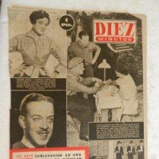 Coleccionismo de Revista Diez Minutos: REVISTA DIEZ MINUTOS Nº 36 MAYO 1952. EN ESTE NÚMERO: LA FABULOSA HERENCIA DE FRANCISCO MARTÍNEZ.... Lote 173531085