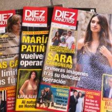 Coleccionismo de Revista Diez Minutos: REVISTAS DIEZ MINUTOS 2019. Lote 175884875
