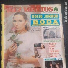 Coleccionismo de Revista Diez Minutos: REVISTA 10 MINUTOS AÑO 1976 REPOR PREPARATIVOS DE BODA DE ROCÍO JURADO. Lote 176292018