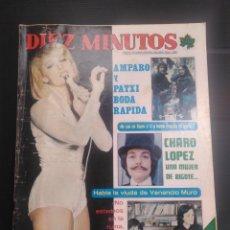 Coleccionismo de Revista Diez Minutos: REVISTA DÍEZ MINUTOS AÑO 1976 REPOR AMPARO MUÑOZ Y PATXI ANDION RAFAELA CARRA. Lote 176333059