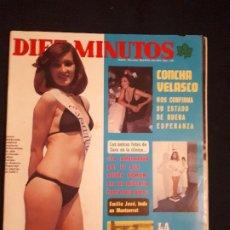 Coleccionismo de Revista Diez Minutos: DIEZ MINUTOS Nº 1291. CONCHA VELASCO, RAFAELLA CARRA, AMPARO MUÑOZ, DOBLE POSTER.. Lote 178067462