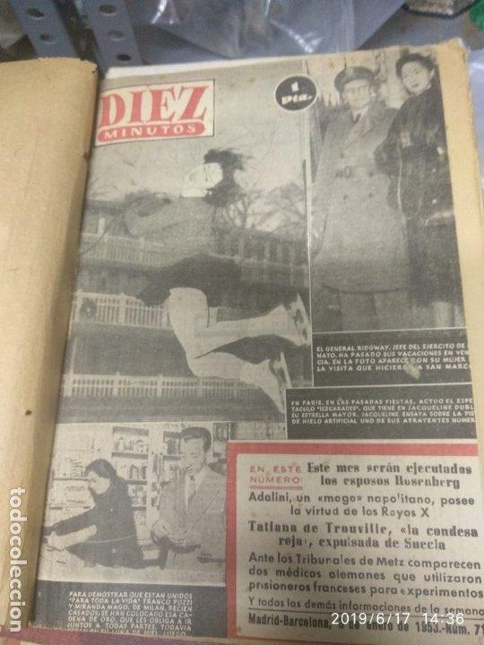 ANUARIO DE LA REVISTA DIEZ MINUTOS 1953, VALIA 1PTAS TAPA SUELTA POR EL CANTO, LA TAPA DE ATRÁS EST (Coleccionismo - Revistas y Periódicos Modernos (a partir de 1.940) - Revista Diez Minutos)