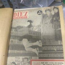 Coleccionismo de Revista Diez Minutos: ANUARIO DE LA REVISTA DIEZ MINUTOS 1953, VALIA 1PTAS TAPA SUELTA POR EL CANTO, LA TAPA DE ATRÁS EST. Lote 178252586