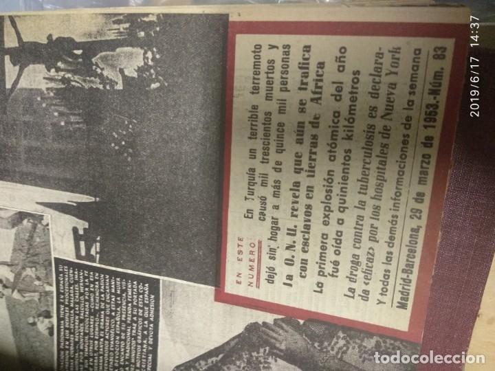 Coleccionismo de Revista Diez Minutos: ANUARIO DE LA REVISTA DIEZ MINUTOS 1953, VALIA 1ptas Tapa suelta por el canto, la tapa de atrás est - Foto 3 - 178252586