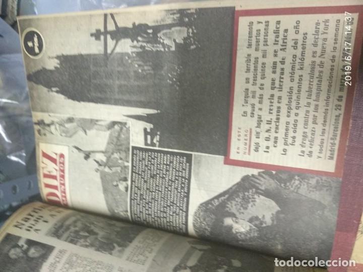 Coleccionismo de Revista Diez Minutos: ANUARIO DE LA REVISTA DIEZ MINUTOS 1953, VALIA 1ptas Tapa suelta por el canto, la tapa de atrás est - Foto 5 - 178252586
