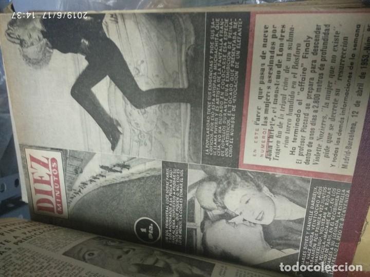 Coleccionismo de Revista Diez Minutos: ANUARIO DE LA REVISTA DIEZ MINUTOS 1953, VALIA 1ptas Tapa suelta por el canto, la tapa de atrás est - Foto 8 - 178252586