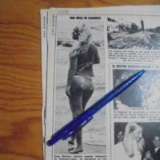 Coleccionismo de Revista Diez Minutos: RECORTE : ROSA MORENA EN CANARIAS. DIEZ MINUTOS, JULIO 1973 (). Lote 179091016