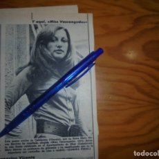 Coleccionismo de Revista Diez Minutos: RECORTE : MISS VASCONGADAS 1973. DIEZ MINUTOS, JULIO 1973 (). Lote 179091240