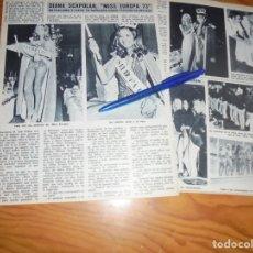 Coleccionismo de Revista Diez Minutos: RECORTE : DIANA SCAPOLAN, MISS EUROPA 1973. DIEZ MINUTOS, JULIO 1973 (). Lote 179091707