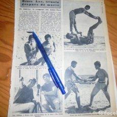Coleccionismo de Revista Diez Minutos: RECORTE : BRUCE LEE, TRIUNFA DESPUES DE MORIR. DIEZ MINUTOS, JULIO 1974 (). Lote 179396096