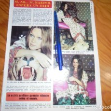 Coleccionismo de Revista Diez Minutos: RECORTE : MARISOL , ESPERA UN HIJO. DIEZ MINUTOS, JULIO 1974 (). Lote 179396248