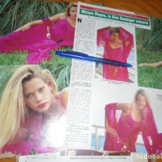 Coleccionismo de Revista Diez Minutos: RECORTE : MIRIAM REYES, LA KIM BASINGER CANARIA, ELEGIDA MISS TELE 5. DIEZ MINUTOS, ABRIL 1992 (). Lote 179397105