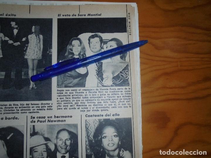 RECORTE : EL VETO DE SARA MONTIEL . DIEZ MINUTOS, FBRERO 1973 () (Coleccionismo - Revistas y Periódicos Modernos (a partir de 1.940) - Revista Diez Minutos)