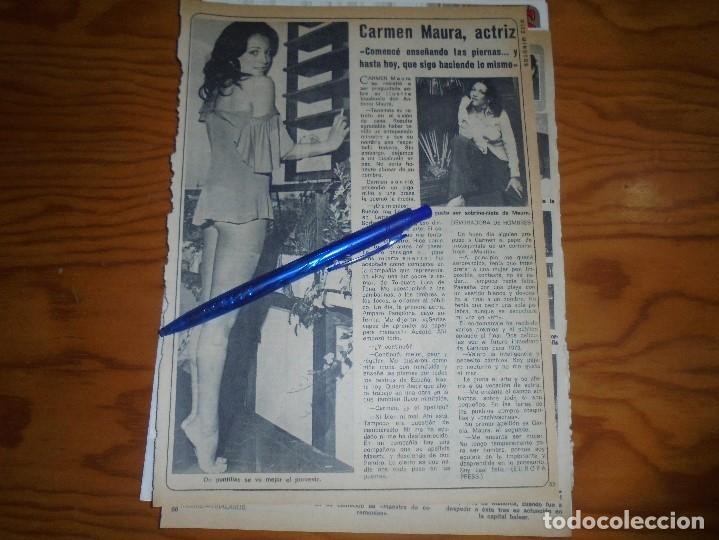 RECORTE : CARMEN MAURA, JOVEN ACTRIZ. DIEZ MINUTOS, FBRERO 1973 () (Coleccionismo - Revistas y Periódicos Modernos (a partir de 1.940) - Revista Diez Minutos)