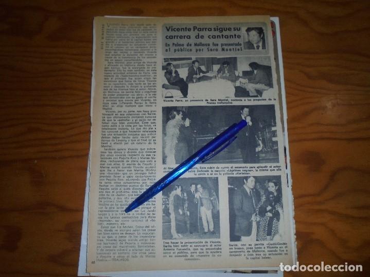 RECORTE : SARA MONTIEL PRESENTA EN PUBLICO A VICENTE PARRA. DIEZ MINUTOS, FBRERO 1973 () (Coleccionismo - Revistas y Periódicos Modernos (a partir de 1.940) - Revista Diez Minutos)