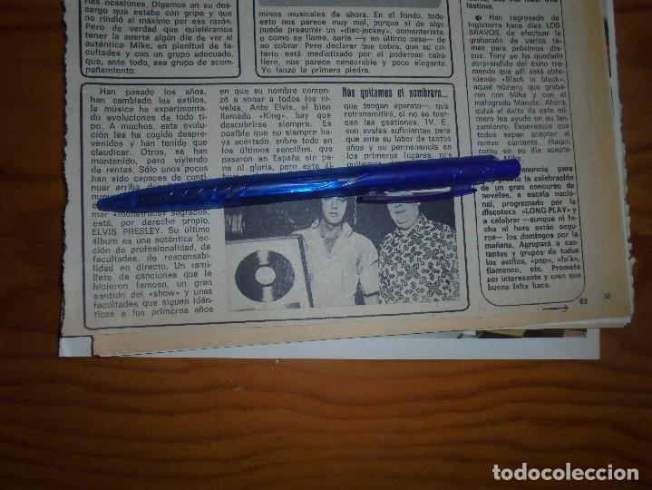RECORTE : ELVIS PRESLEY. DIEZ MINUTOS, FBRERO 1973 () (Coleccionismo - Revistas y Periódicos Modernos (a partir de 1.940) - Revista Diez Minutos)