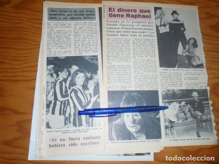 RECORTE : EL DINERO QUE TIENE RAPHAEL. DIEZ MINUTOS, ABRIL 1972 () (Coleccionismo - Revistas y Periódicos Modernos (a partir de 1.940) - Revista Diez Minutos)