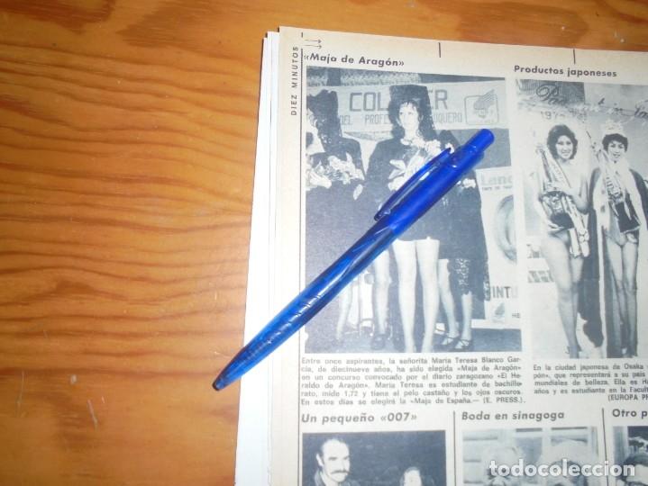 RECORTE : MAJA DE ARAGON 1972. DIEZ MINUTOS, ABRIL 1972 () (Coleccionismo - Revistas y Periódicos Modernos (a partir de 1.940) - Revista Diez Minutos)