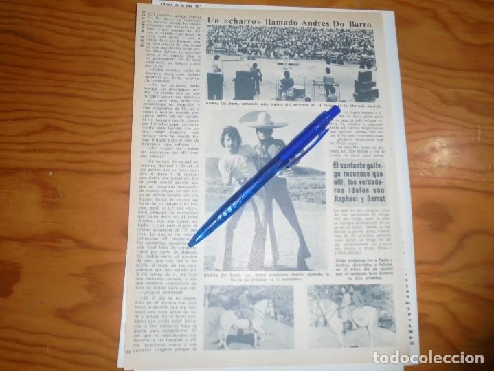 RECORTE : UN CHARRO LLAMADO ANDRES DO BARRO. DIEZ MINUTOS, ABRIL 1972 () (Coleccionismo - Revistas y Periódicos Modernos (a partir de 1.940) - Revista Diez Minutos)